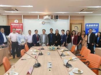 คณาจารย์ ว.นวัตกรรมร่วมต้อนรับคณะผู้บริหาร วิทยาลัยจากประเทศจีน