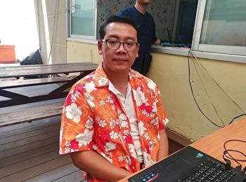 อาจารย์สาขาวิชาการจัดการฟุตบอลอาชีพเข้าร่วมกิจกรรมสืบสานประเพณีสงกรานต์ไทย ณ ลานกิจกรรม อาคาร 37 มหาวิทยาลัยราชภัฏสวนสุนันทา