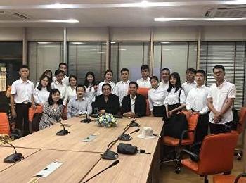 สาขาวิชารัฐศาสตร์ ว.นวัตกรรม ร่วมต้อนรับ คณะอาจารย์และนักศึกษา จาก Sichuan institute of industrial technology
