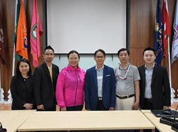 รองคณบดี ฝ่ายบริหารและ รองคณบดี ฝ่ายวิชากร ว.นวัตกรรม ต้อนรับ คณาจารย์ จาก Haikou University
