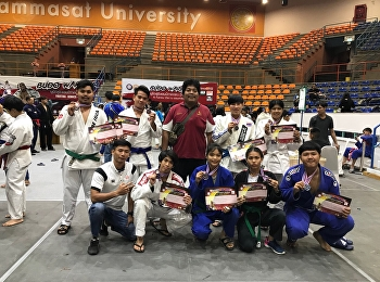 Mr. Sakol Saejung, a sophomore in the political science program, received two silver medals and Mr. Tawatchai Chantorndanu received a silver medal in