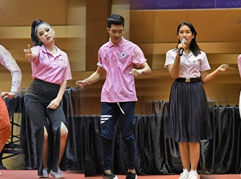 Student representative from the College of Innovation and Management participated in the school pageant at the Sports and Health Center, 4th floor.