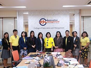 วิทยาลัยนวัตกรรมและการจัดการ มหาวิทยาลัยราชภัฏสวนสุนันทา จัดโครงการ ตรวจประเมินคุณภาพการศึกษาภายในระดับหลักสูตร ประจำปีการศึกษา 2561 โดยในวันนี้ (26 มิถุนายน 2562) เป็นการตรวจของหลักสูตรการจัดการมหาบัณฑิต สาขาวิชานวัตกรรมการจัดการ