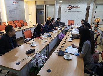 ประชุมเรื่องการจัดทำหลักสูตรการจัดการกีฬา (นานาชาติ) ในระดับบัณฑิตศึกษาและดุษฏีบัณฑิต