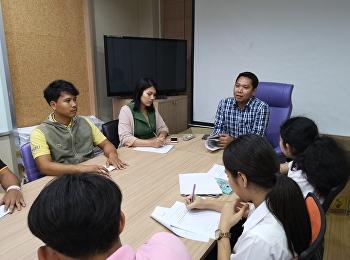 ฝ่ายกิจการนักศึกษา นำโดย ดร.ภัทรวิทย์ อยู่วัฒนะ รองคณบดีฝ่ายกิจการนักศึกษา จัดประชุมร่วมกับสโมสรนักศึกษา,ชมรมCim family และชมรมNBI