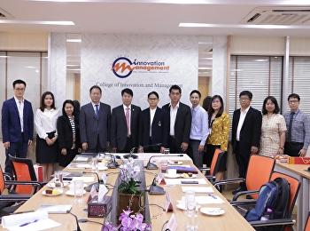 ผสานความร่วมมือกับองค์กรต่างประเทศ ด้านการพัฒนาการศึกษาร่วมกัน ณ ห้องประชุมใหญ่วิทยาลัยนวัตกรรมและการจัดการ อาคารเหมวดีพิทักษ์ ( อาคาร37 )