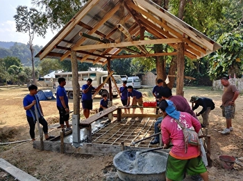 วิทยาลัยนวัตกรรมและการจัดการ ร่วมสร้างปรับปรุง ศาลาที่พัก ให้กับชุมชนบ้านแม่ยางมิ้น