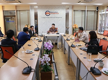 The meeting discussed the ways of cooperation, internship and student experience.