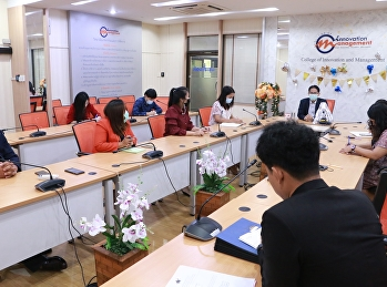 College of Innovation and Management drives the college's operations by holding personnel meetings. The staff support the College of Innovation and Management, with an assistant professor. Dr. Paramet Sang-on Deputy Dean of Management presided over the m