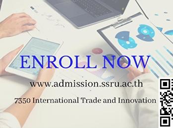 สาขา นวัตกรรมการค้าระหว่างประเทศ (หลักสูตรนานาชาติ) เปิดรับนักศึกษาใหม่