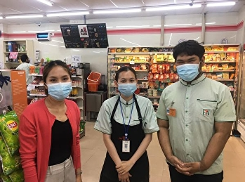 Supervision of practical students at a 7-Eleven store in the course of practical learning on trade innovation management 2