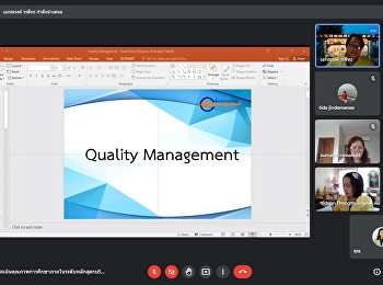Bachelor of Business Administration Program quality management internal education quality assessment course level Academic year 2020 via Google Meet online system